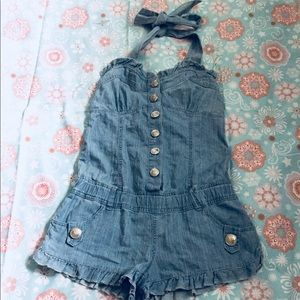 Romper with Halter top style